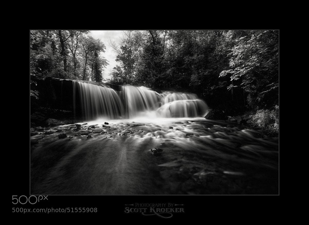 Photograph Raleigh Falls (BW) by Scott Kroeker on 500px