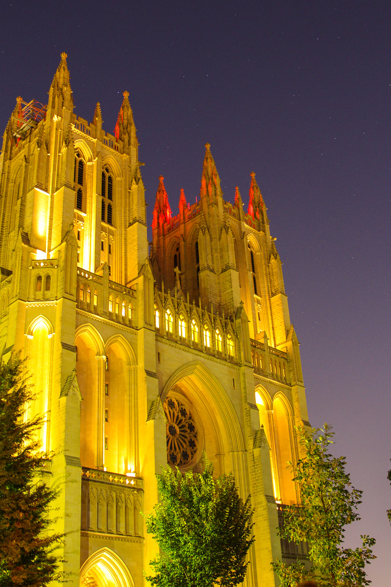 Photograph The National Cathedral At Night by Andy Operchuck on 500px