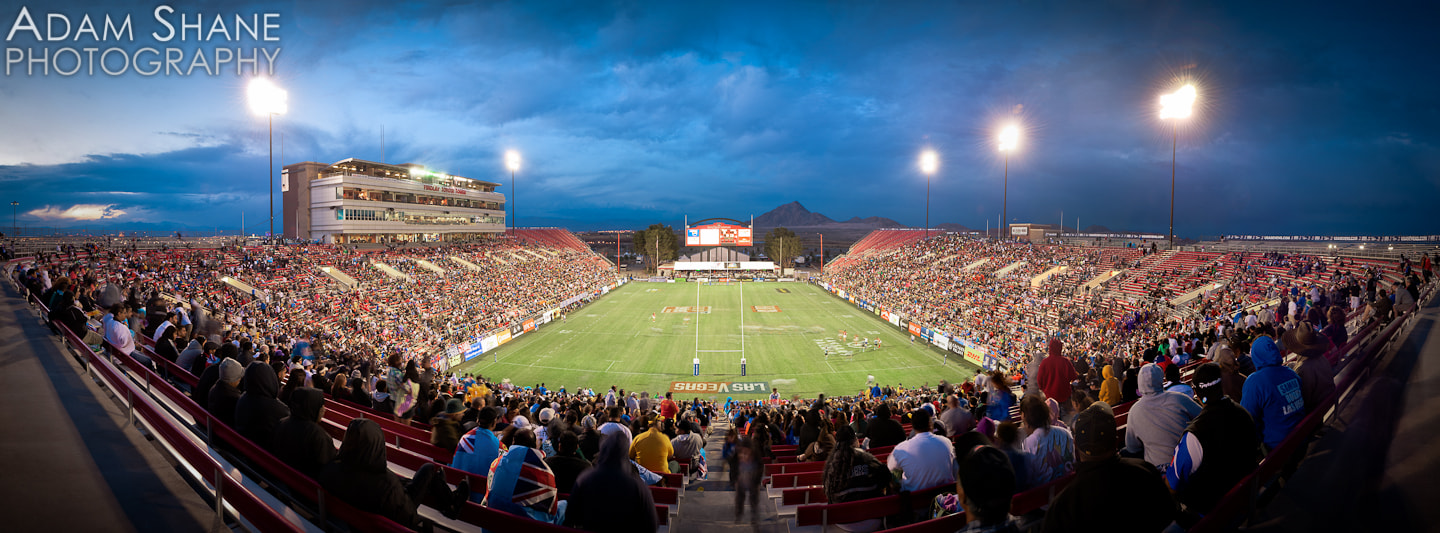 Photograph Sam Boyd Stadium at Sunset by Adam Shane on 500px