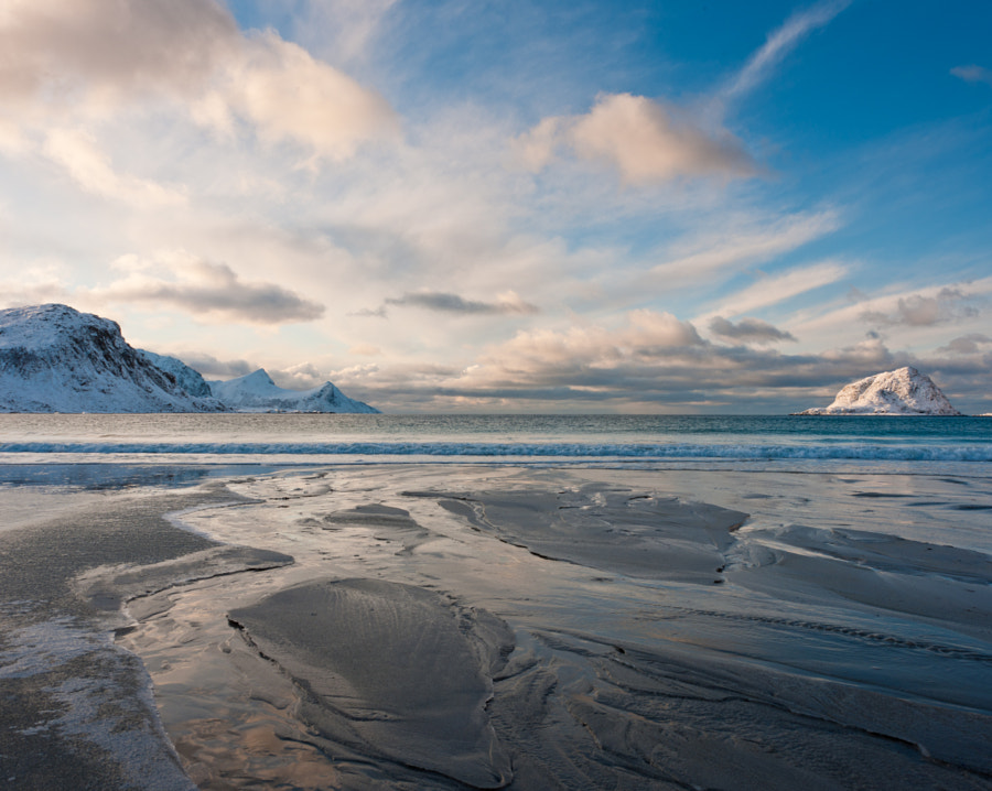 Haukland Beach, Vestvagoy, Lofoten Islands, Norway