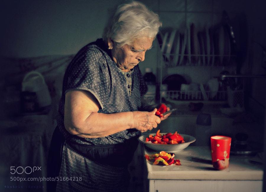Photograph yiayia Katina is cooking by katrin zdragka on 500px