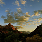 Постер, плакат: Zion Watchman at Sunset revised