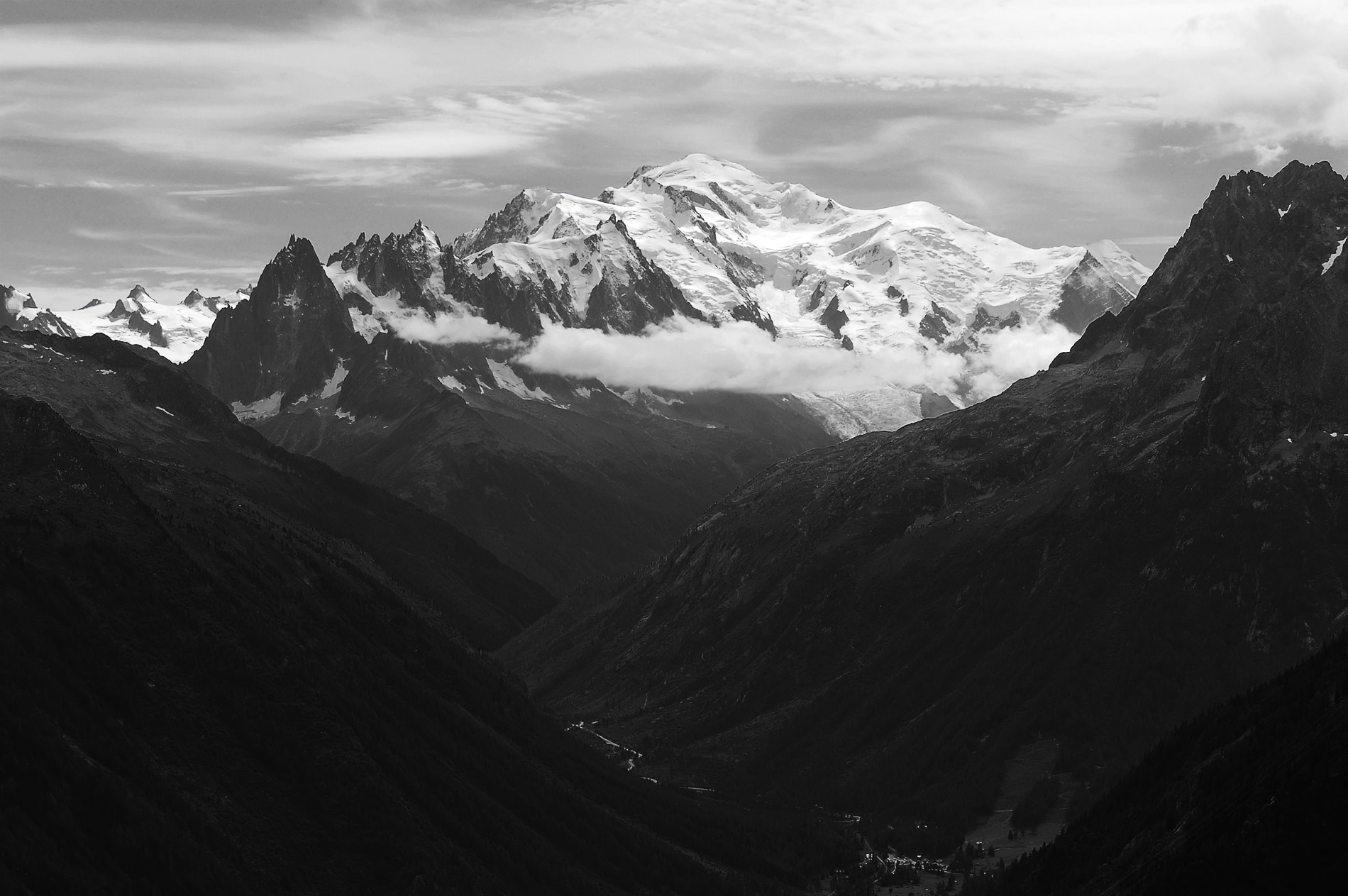 Photograph Mont Blanc in Black by Mickael Bocquet on 500px