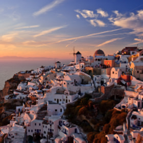 Sunset in Oia by Slava Mylnikov (SlavaMylnikov)) on 500px.com