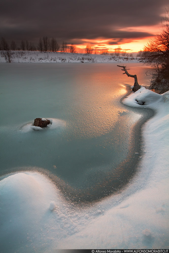 Photograph Frozen Sunset by Alfonso Morabito on 500px
