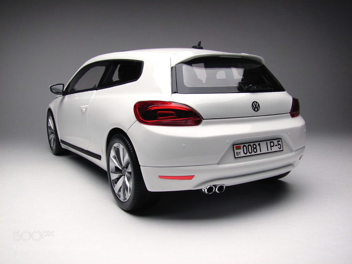 The unique model of VW Scirocco  from Minsk, scale 1/18, hand made