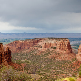 Monument Mesa under the rain by Frenchie & Pop C. (frenchie-pop)) on 500px.com