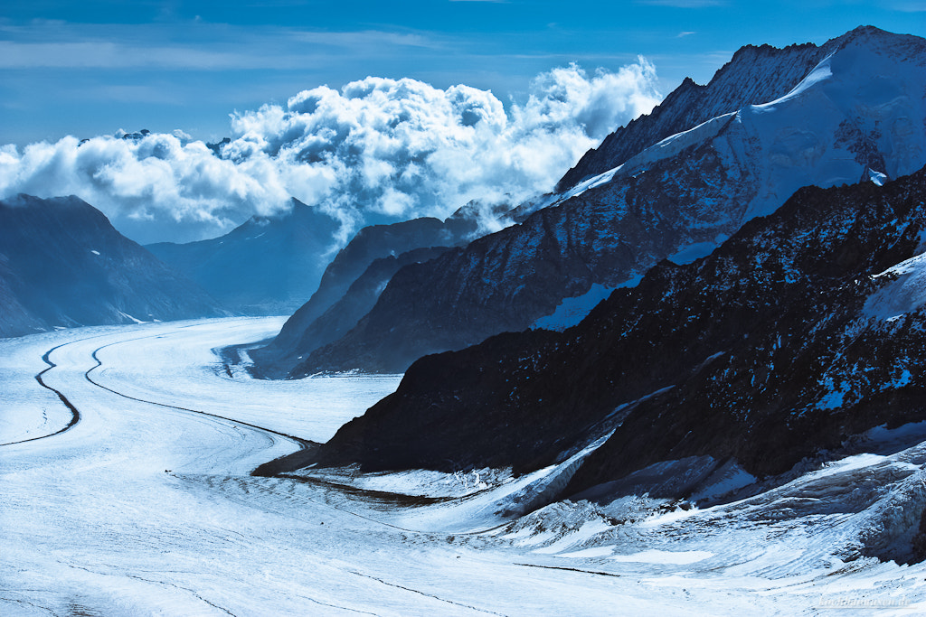 Photograph Aletsch Glacier downhill by Stefan Tiesing on 500px