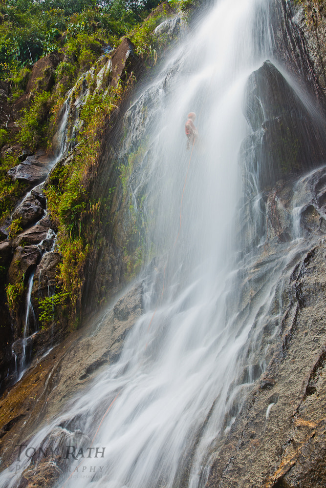 Photograph Rappelling down Antelope Falls by Tony Rath on 500px