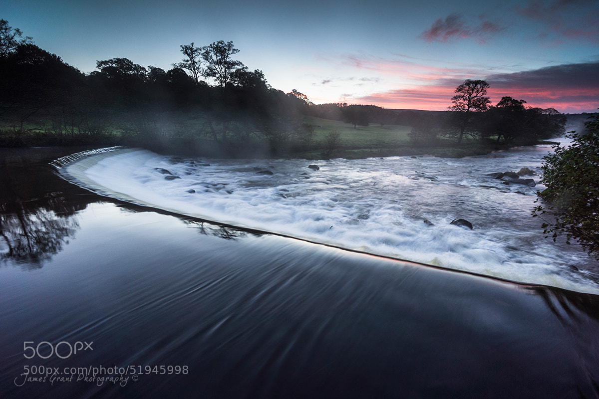 Photograph Chatsworth Weir Sunrise by James Grant on 500px