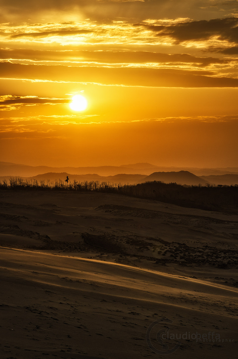 Photograph Sunset on the desert by Claudio Beffa on 500px