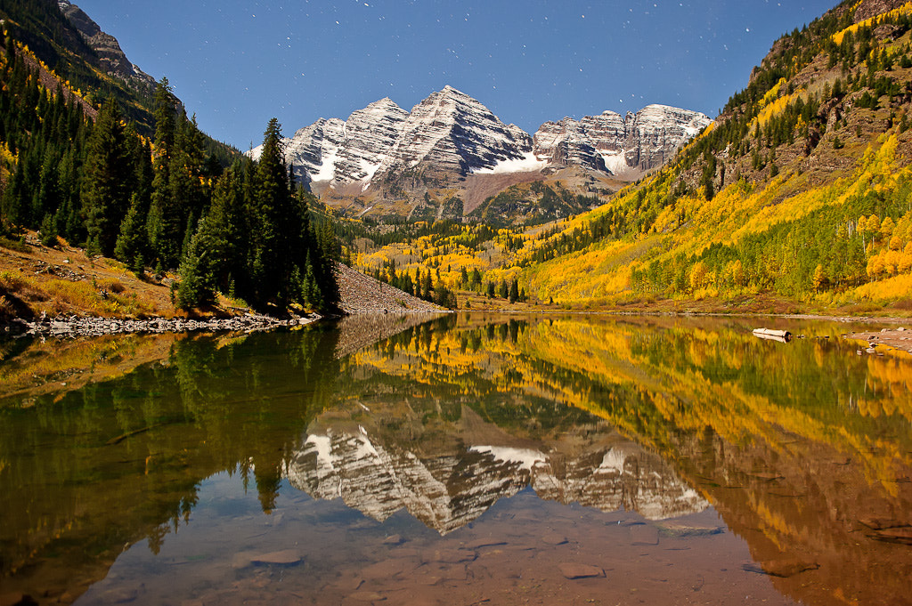 Photograph Maroon Bells at Night by Nasim Mansurov on 500px