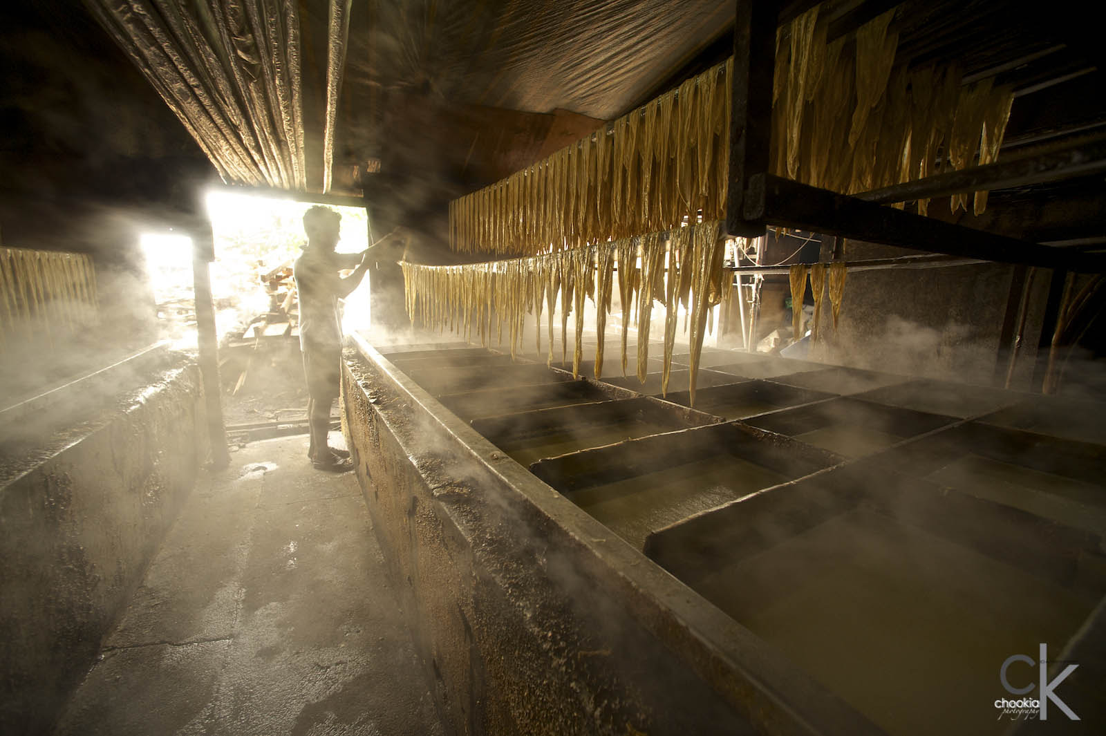 Photograph Dried Tofu / Tofu skin factory by CK NG on 500px