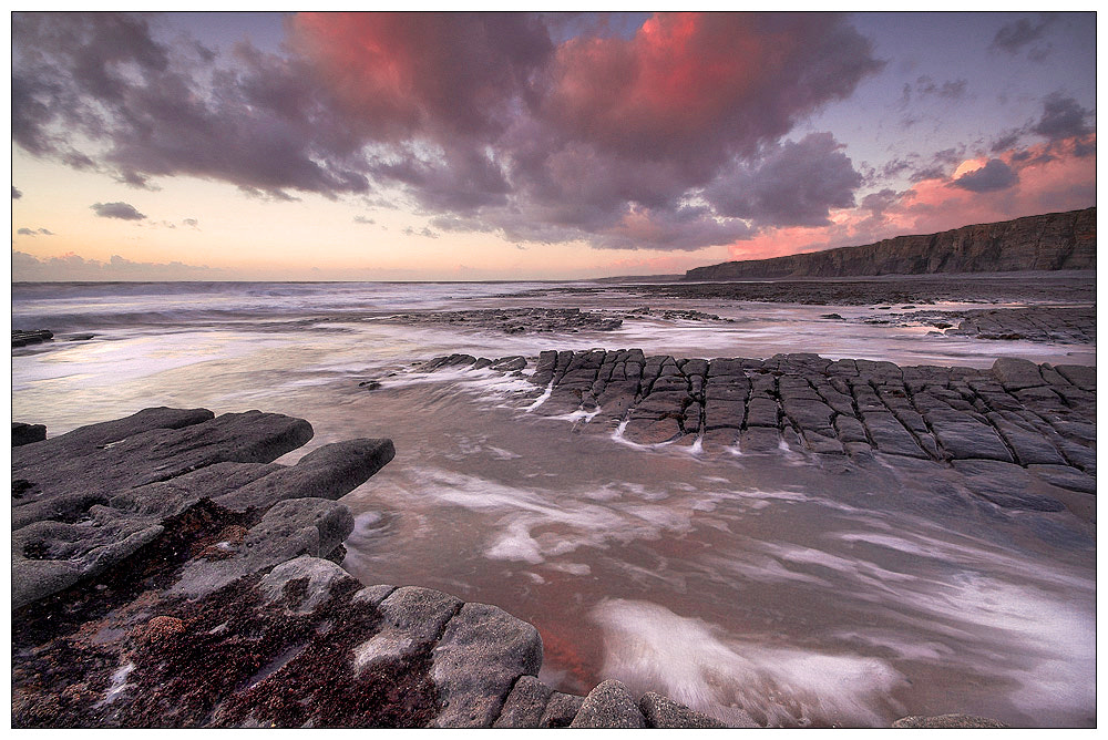 Photograph Nash Point at dusk by Geoffrey Baker on 500px