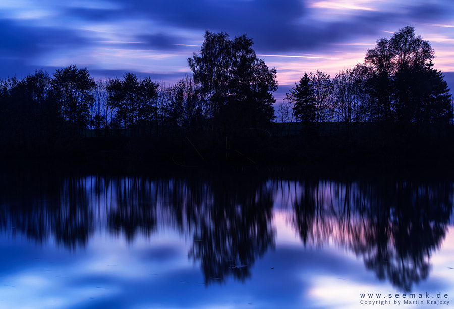 Blue hour in autumn... watch it on the black background