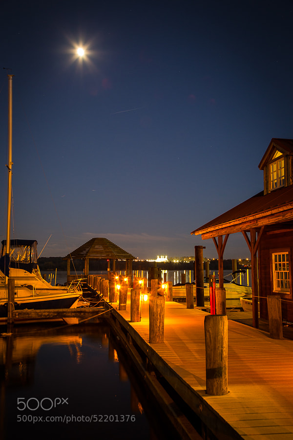 One of the Piers of the Alexandria Marina.  Seaport Foundation on the right and circus tent in the distance.