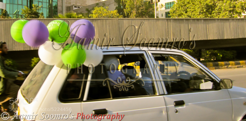 Photograph Balloons on a car by Aamir Soomro on 500px