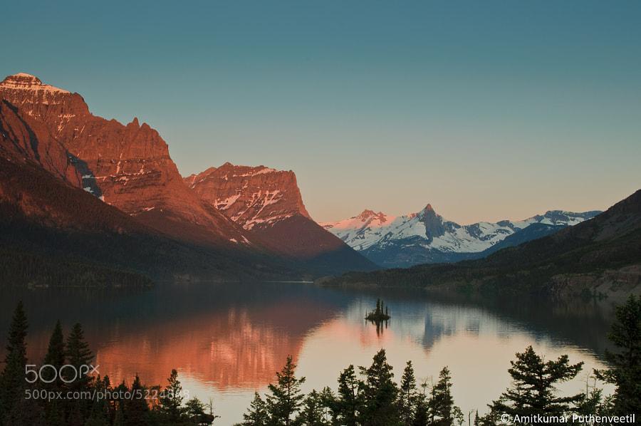 Sunrise at St.Mary Lake, Glacier National Park by pamitkumar123 ) on 500px.com