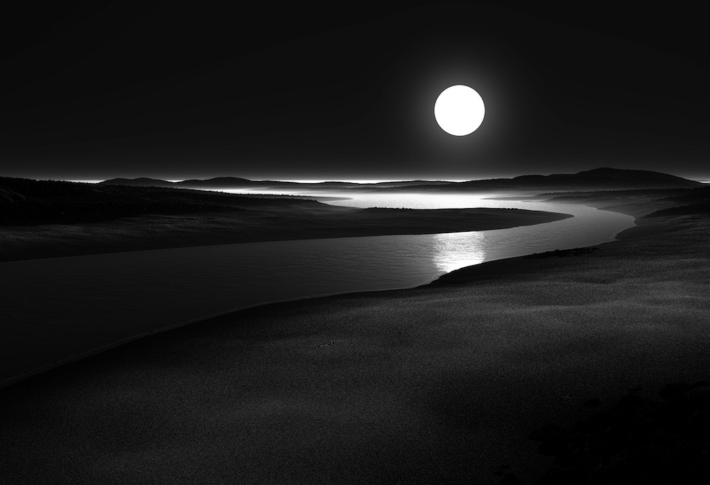 Photograph MOON RIVER B&W by aleksandra lajtenberger on 500px