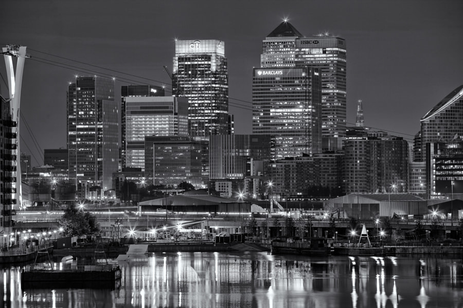 London Docklands from Royal Victoria Dock