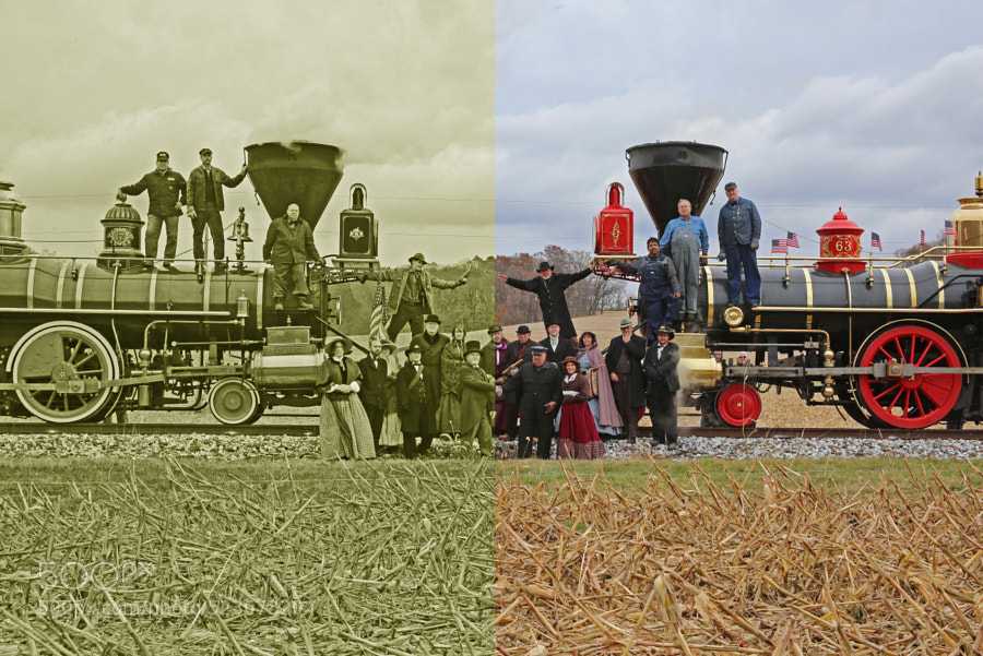 On 12 November 2013, America's newest Steam Locomotives took part in a recreation of the driving of the Golden Spike at Promontary Point, Utah, signifying the joining of the East and West railroads.  Steam Into History's York #17 and Kloke Locomotive Work's LEVIATHAN #63 took part in this event.  It was held along the York County, Pennsylvania Heritage Rail Trail.