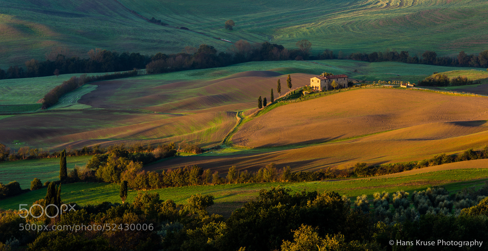 Photograph Tuscan landscape with morning sun by Hans Kruse on 500px
