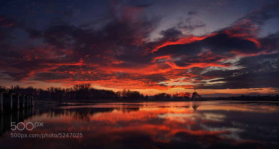 Photograph river sunset by alexandru popovschi  on 500px