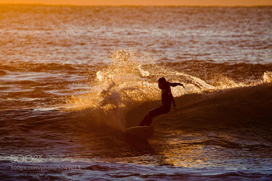 Photograph Evening surf by John Shiels on 500px