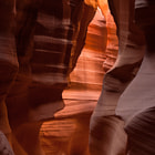 Looking back at the entrance to Upper Antelope Slot Canyon. Outside of Page, Arizona.