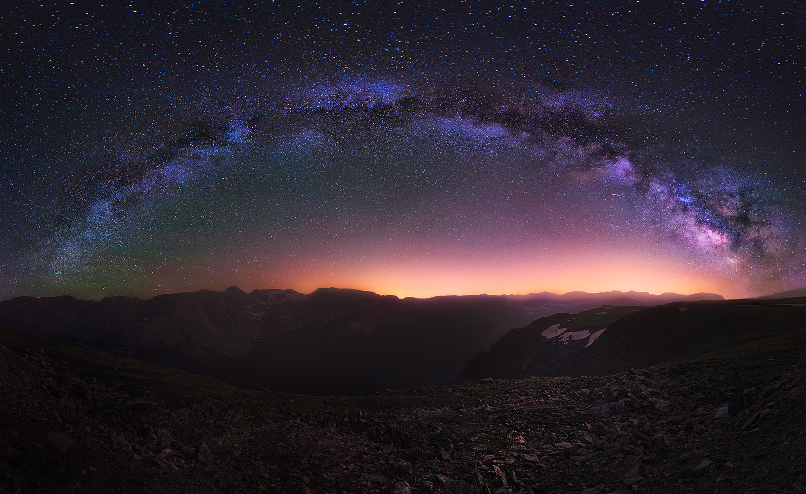 Photograph Milky Way over the Rockies by Jesse Summers on 500px