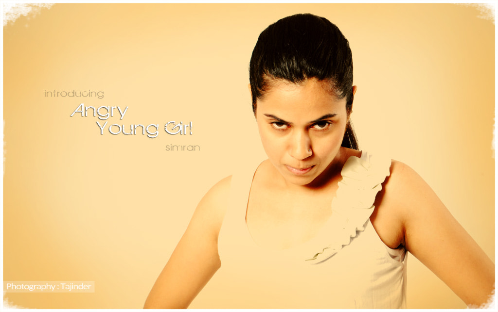Photograph Angry Young Girl Sim by Tajinder J Singh on 500px
