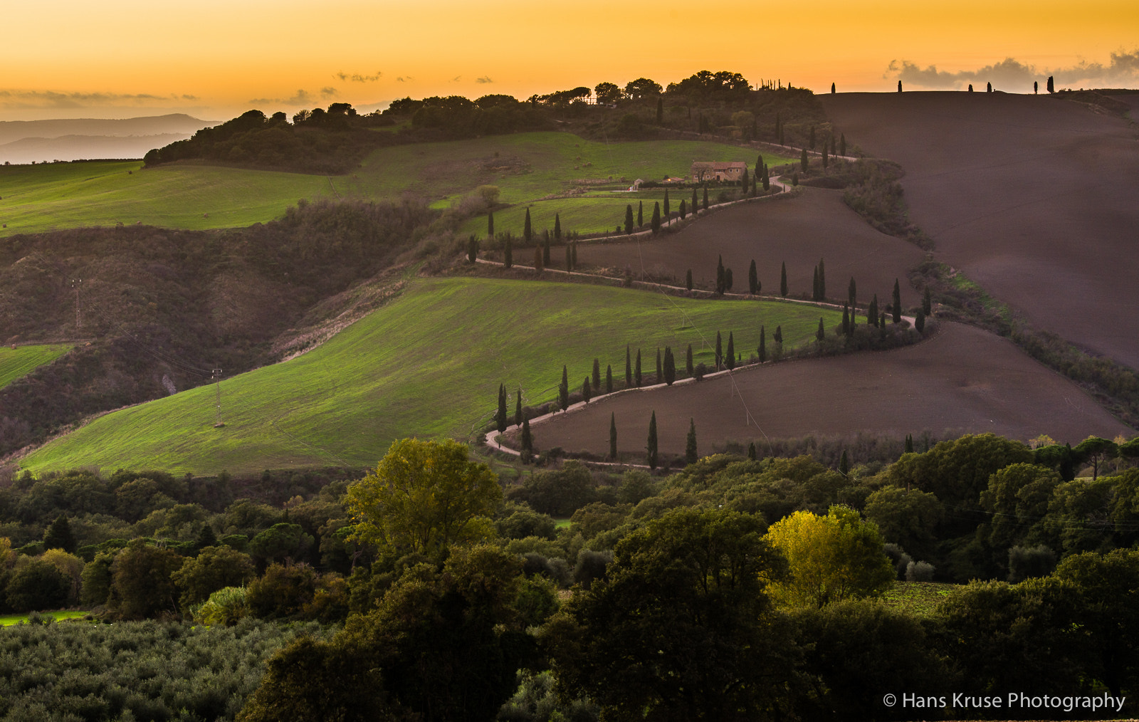 Photograph Winding road in Tuscany by Hans Kruse on 500px