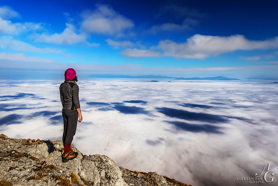 When you reach it where can you go next?  Sea of clouds covers Lika region, viewed from Velebit mountain