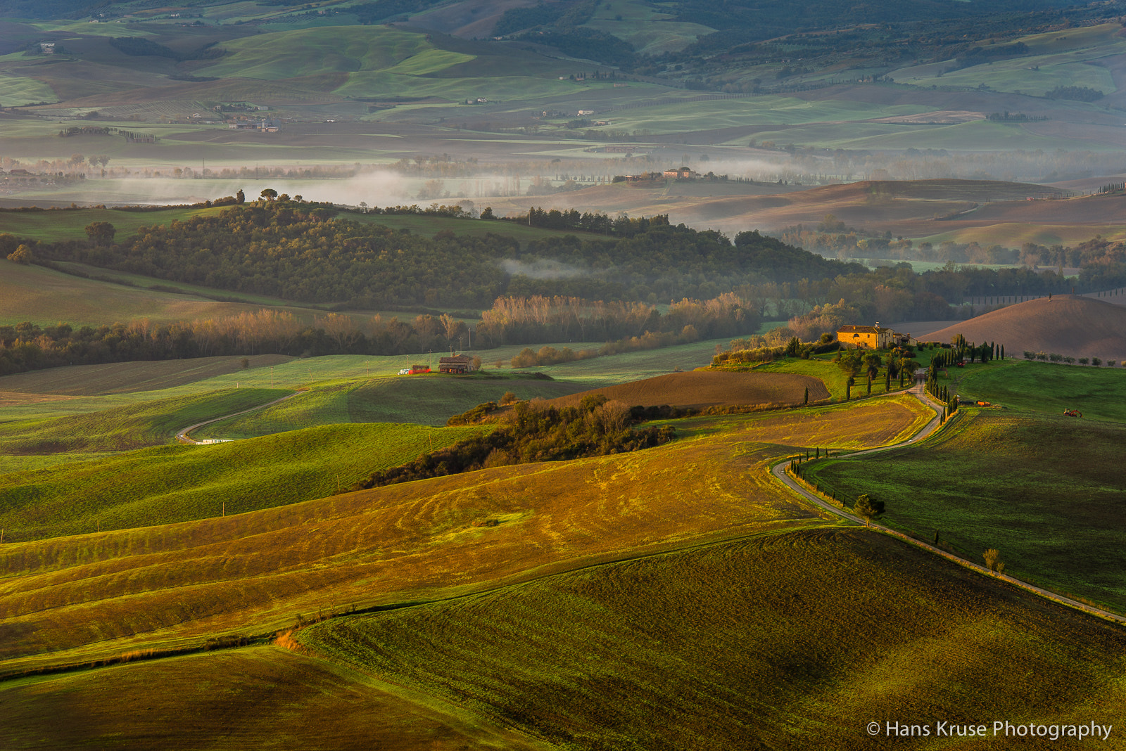 Photograph Tuscan landscape in morning light by Hans Kruse on 500px