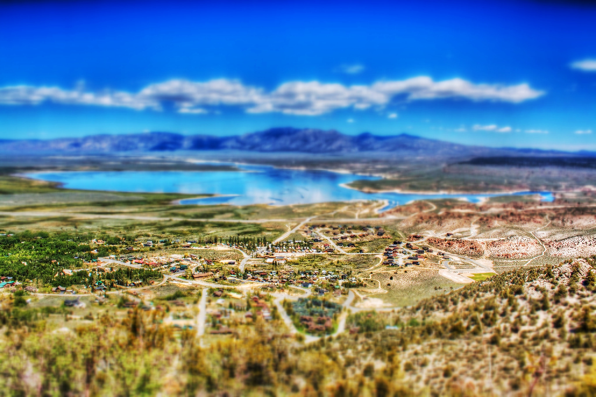 Photograph Crowley Lake in Miniature by Jacob Penderworth on 500px