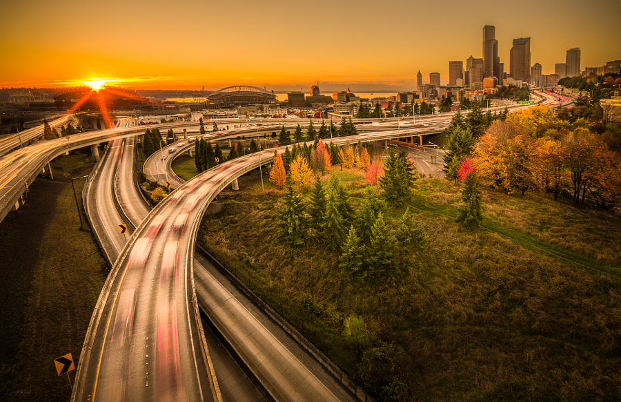 Photograph Sunset Seattle by Derek Kind on 500px