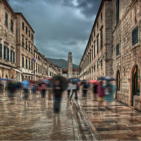 Dubrovnik in the rain by Marek LACHENDRO photography (LACHEND)) on 500px.com