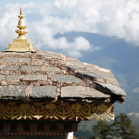 corner of one stupa