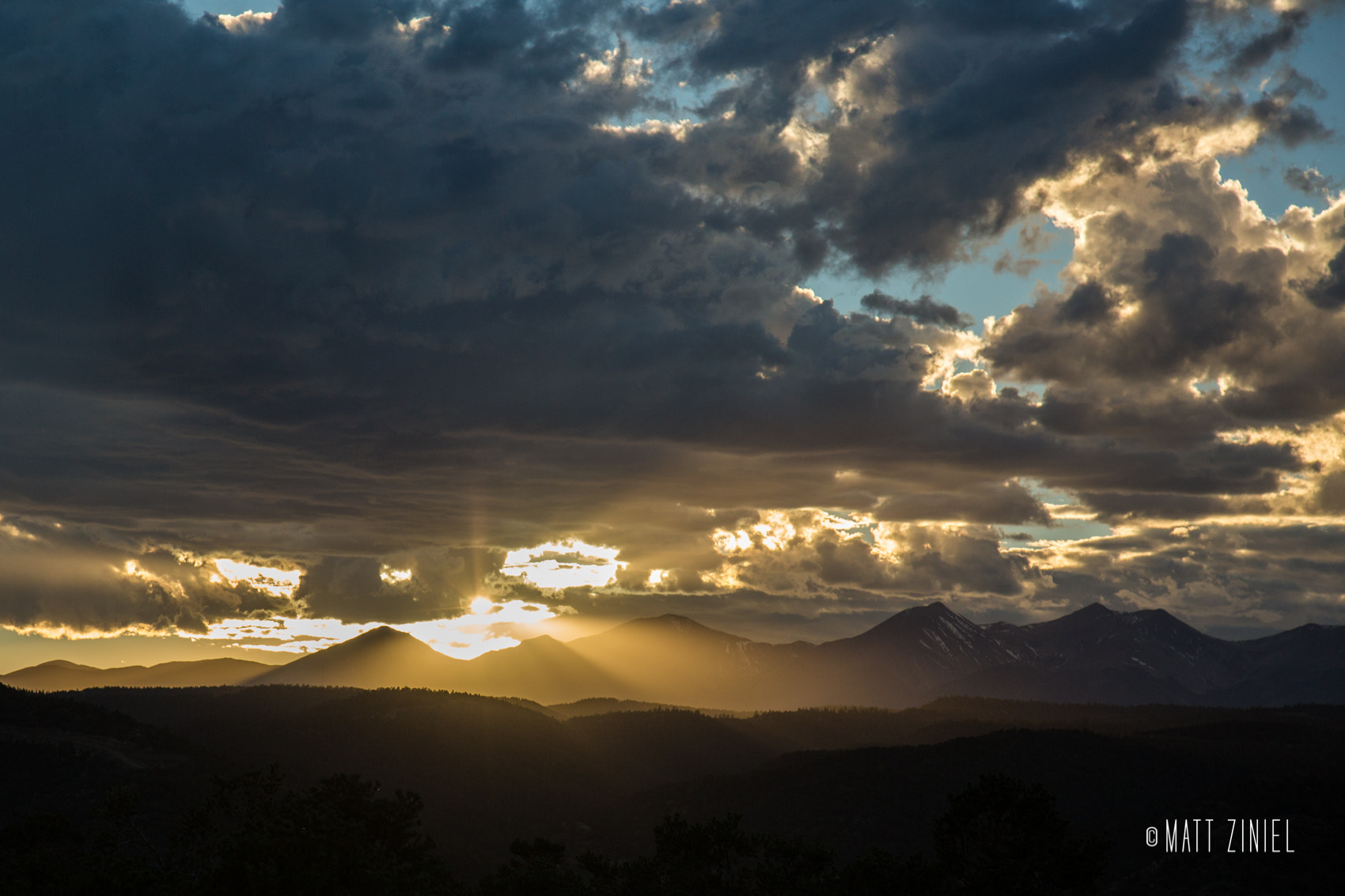 Photograph Colorado Sunset by Matt Ziniel on 500px
