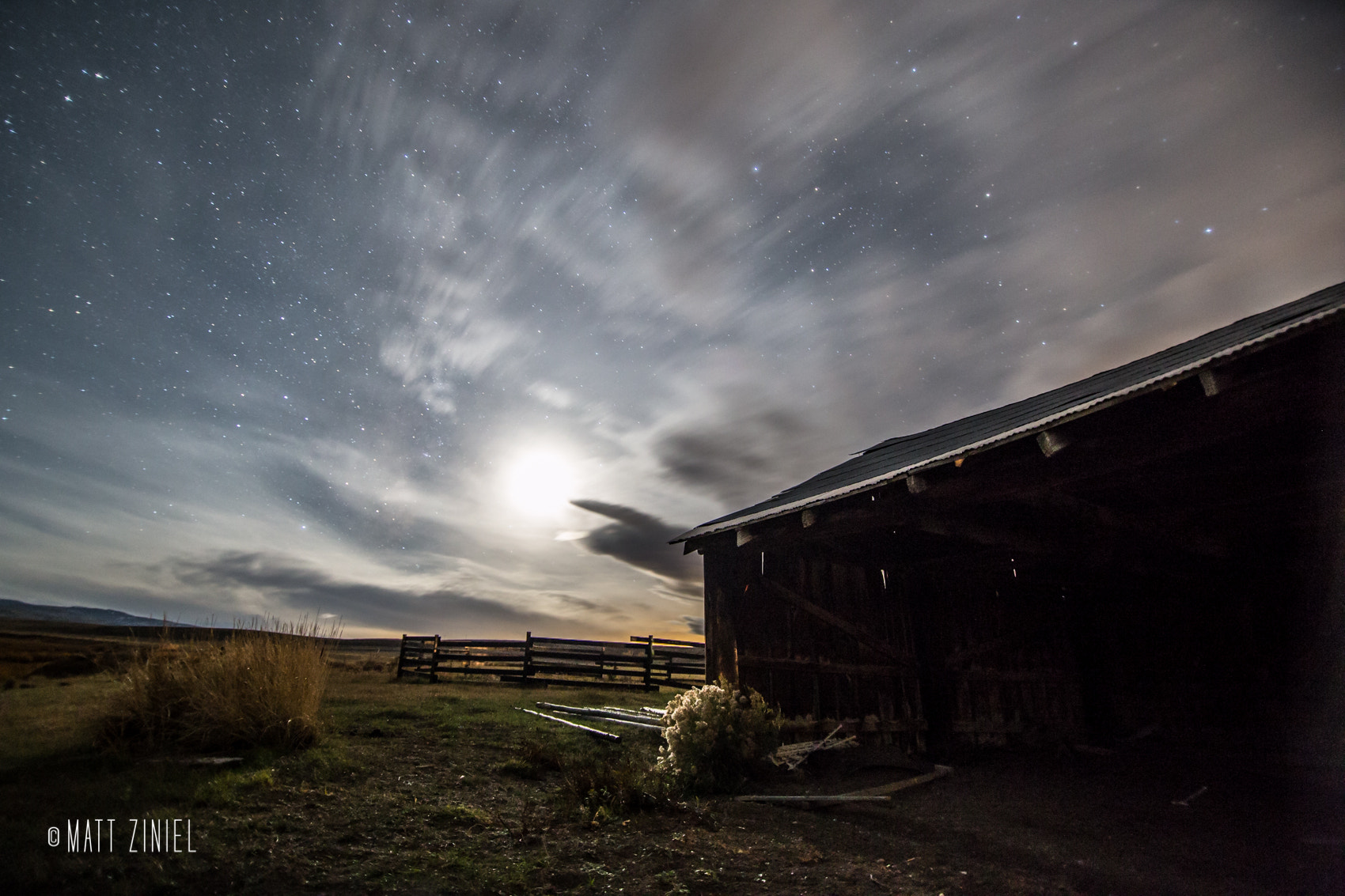 Photograph Ranch at Night by Matt Ziniel on 500px