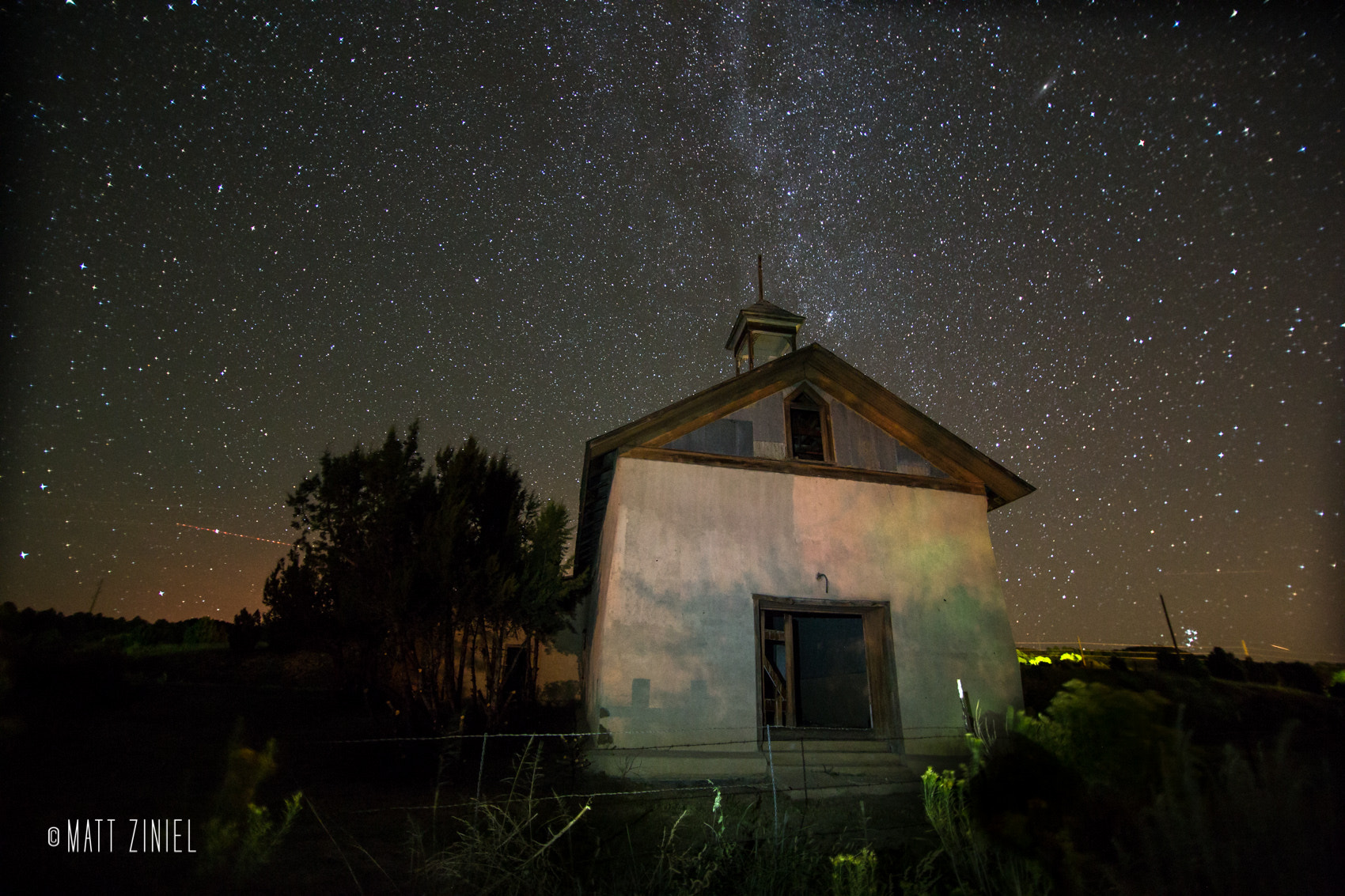 Photograph Abandoned Church under the Night by Matt Ziniel on 500px