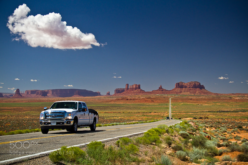 Photograph Driving to the Monument Valley by Cristiano Secci on 500px