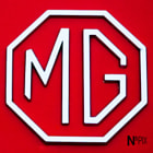 ������, ������: Bright Red MG Midget Car Emblem