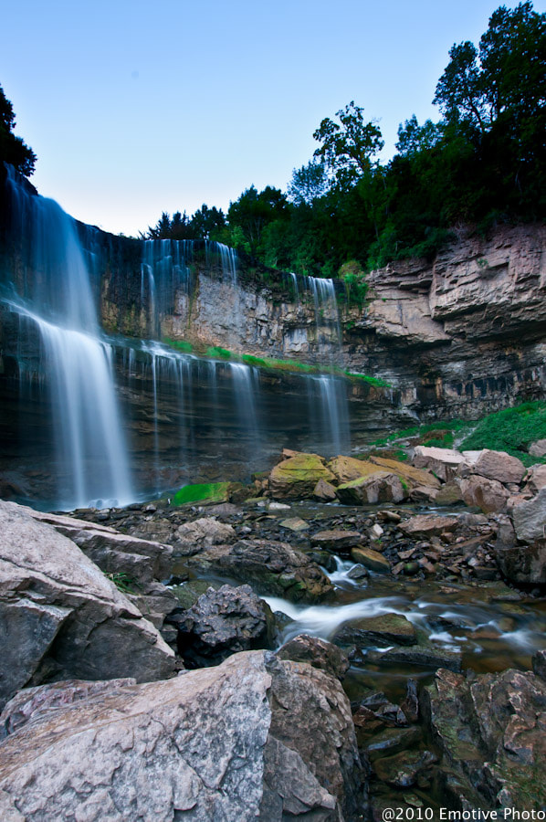 Photograph Webster Falls in Colour by Dean Borojevic on 500px