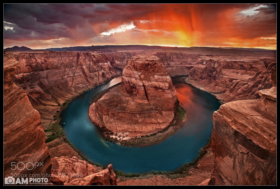 Photograph Stormy Night at Horseshoe Bend by Aaron M on 500px