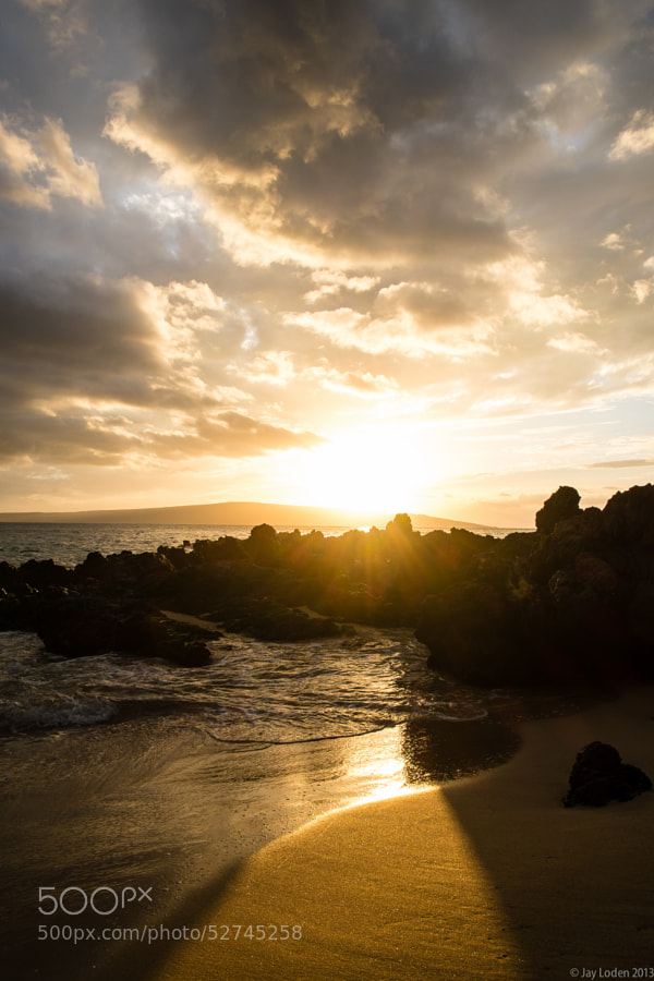 Sunset on Makena Cove beach 7 years after we were married on the same beach :)