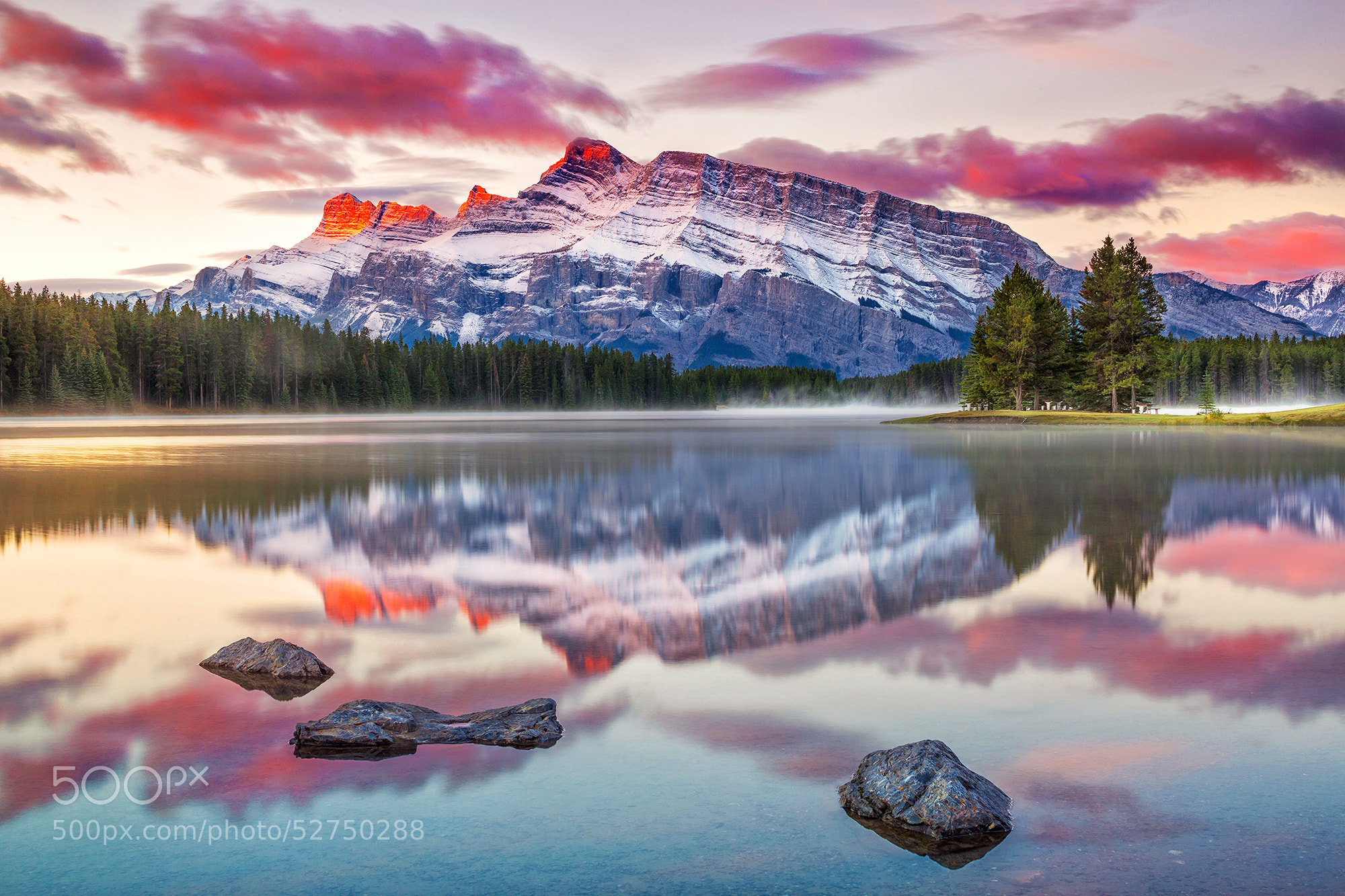 Photograph Two Jack Lake by Pietro Canali on 500px
