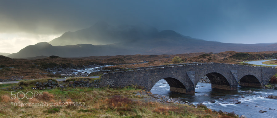 Sligachan bridge in between rain showers.