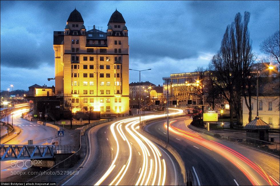 Photograph Oslo Night Road (side 2) by Oleksii Boldyriev on 500px