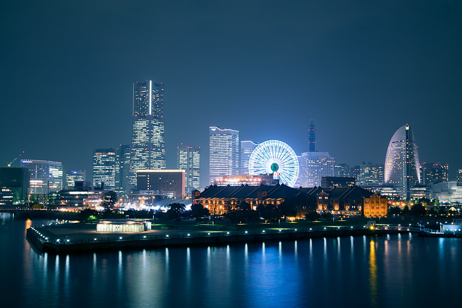 Photograph Minato Mirai By Night by Loic Labranche on 500px
